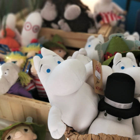 Moomin soft toy from Valley Shop, Rovaniemi, Lapland, Finland