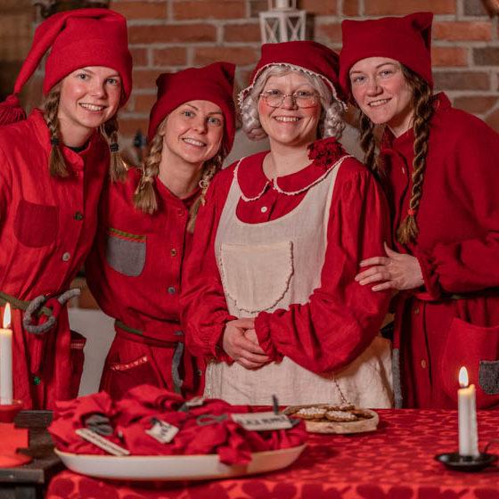 Mrs. Santa Claus Christmas Cottage, Santa Claus Reindeer, Arctic Circle, Rovaniemi, Lapland, Finland
