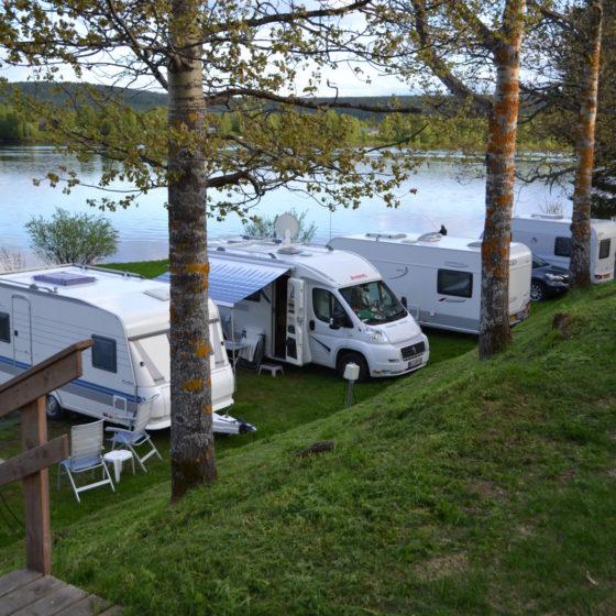 Napapiirin Saarituvat camping in Rovaniemi, Lapland, Finland