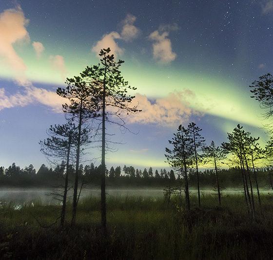 Aurora Borealis in Rovaniemi, Lapland, Finland. September 2017