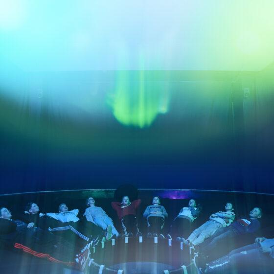 Northern Lights in Museum Science Centre Arktikum, Rovaniemi Lapland Finland (1)