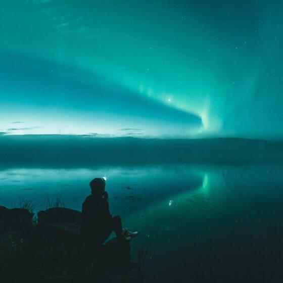 Northern lights in Rovaniemi Lapland Finland photo by Toni Eskelinen Visit Rovaniemi