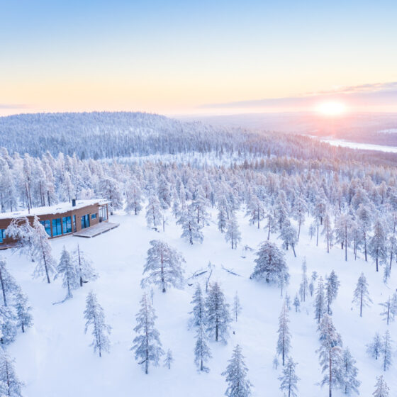 Octola Villa exclusive luxury retreat in winter, Rovaniemi, Lapland, Finland
