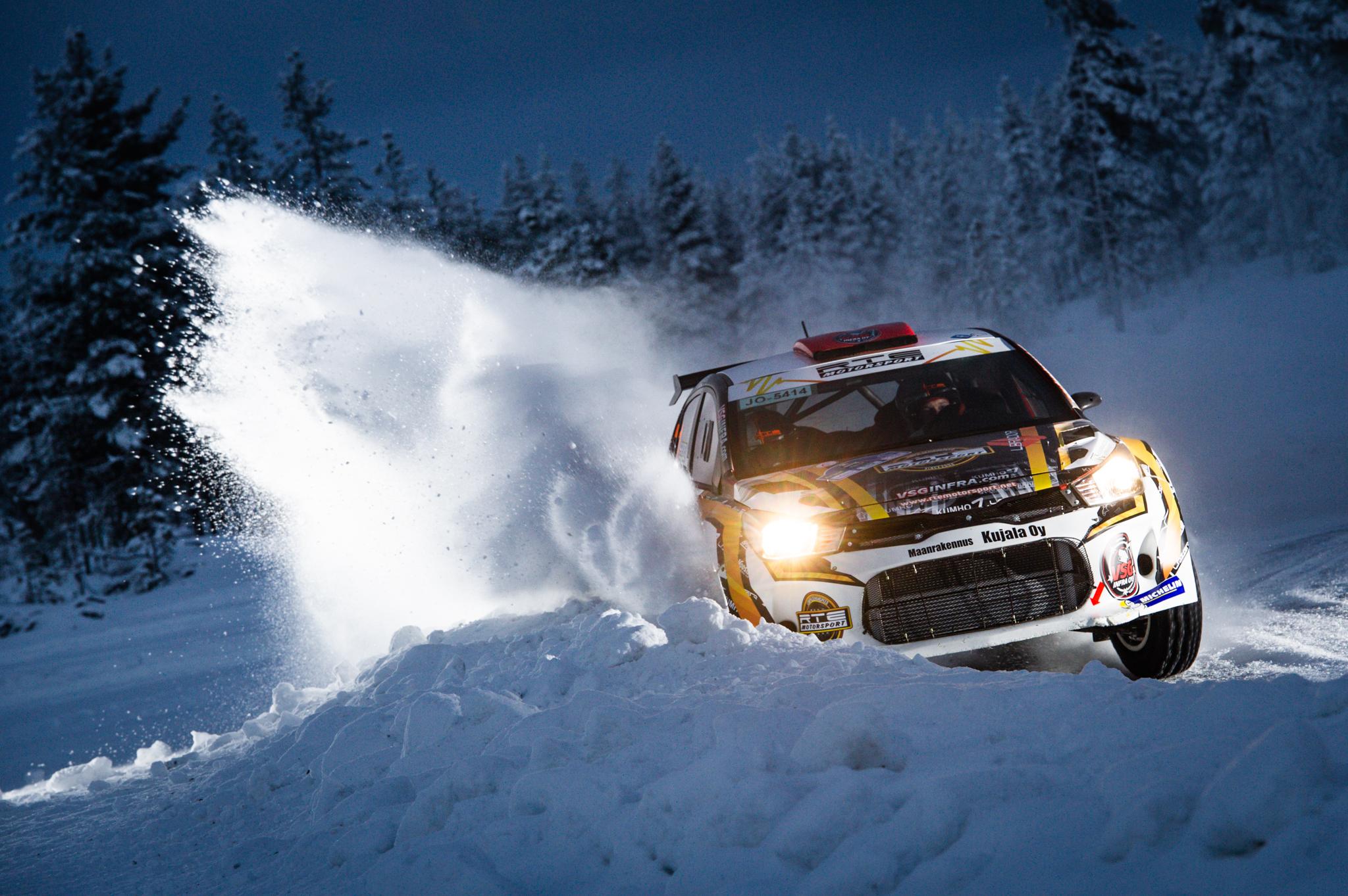 Oskari Heikkinen Taneli_Niinimaki Arctic Lapland Rally Rovaniemi Finland