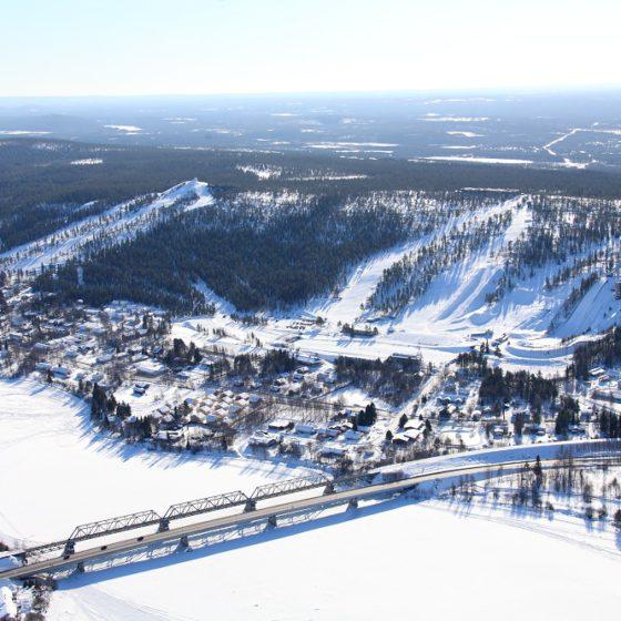 Ounasvaara hiihtokeskus Lappi Rovaniemi