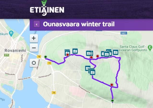 Etiäinen Ounasvaara Winter Trail Hiking in Rovaniemi