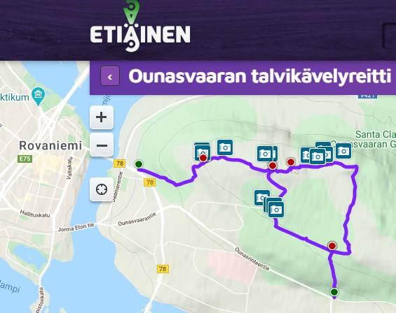 Ounasvaara Talvikävelyreitti Etiäinen