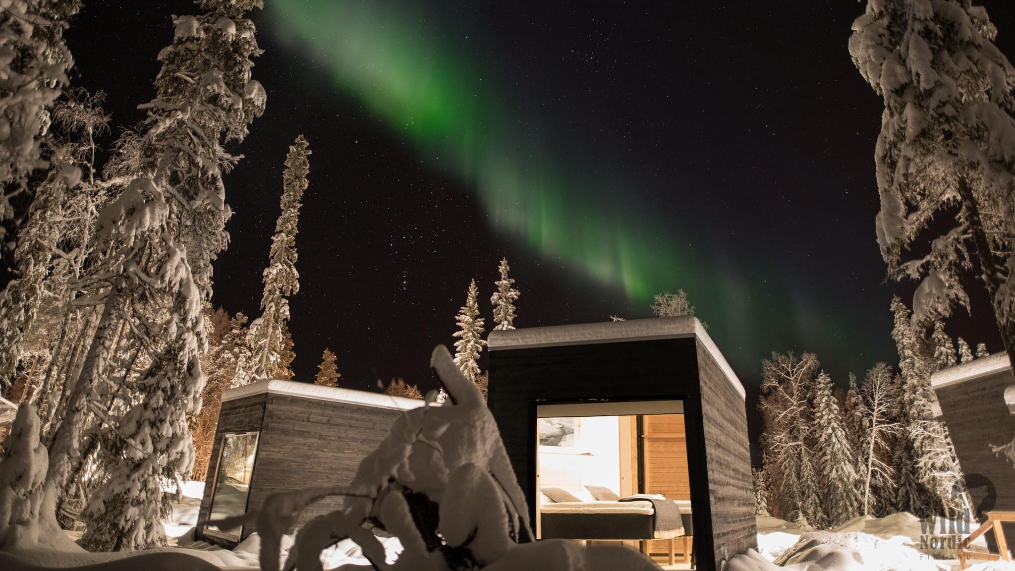 Panorama Hut with Northern Lights Visit Rovaniemi