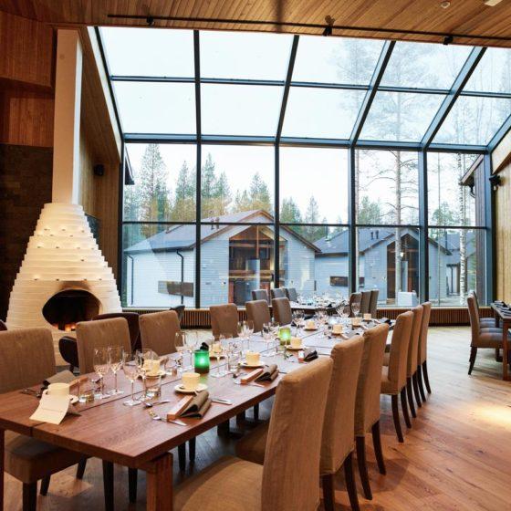 Restaurant in Nova Skyland Hotel in Rovaniemi, Lapland, Finland