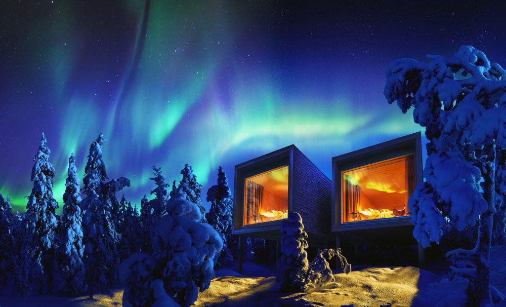 Romantic stay in Arctic TreeHouse Hotel in Rovaniemi, Lapland, Finland