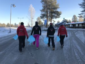 Roskatalkoot Rovaniemi Lappi Suomi