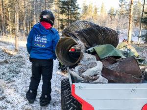 Roskatalkoot, Rovaniemi, Lappi
