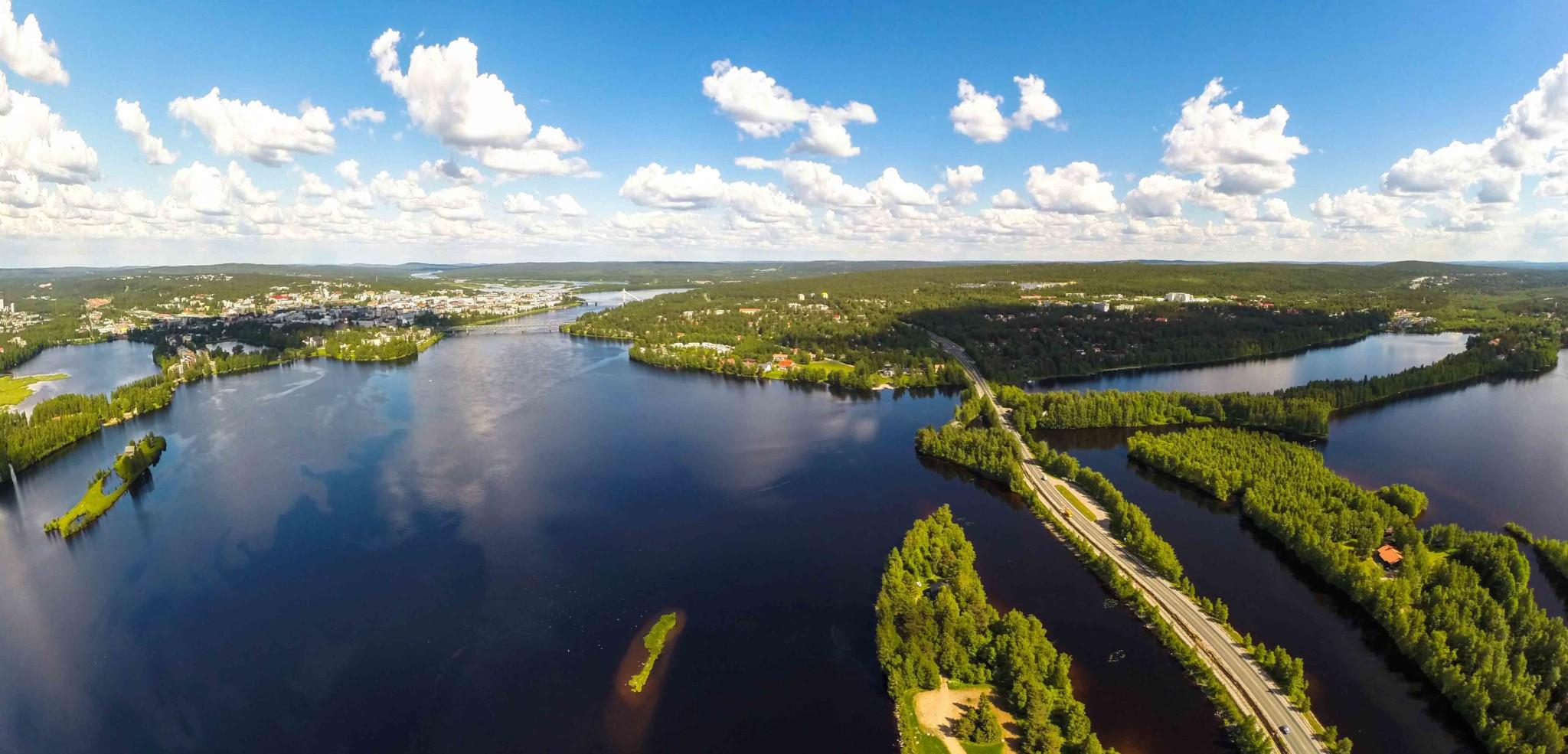 Visit Rovaniemi ilmakuva Jani Ylinampa Rovaniemi Lapland Nature