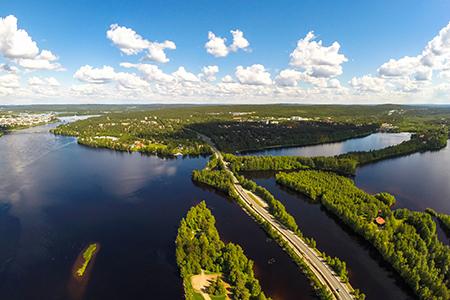 Rovaniemi aerial in Summer