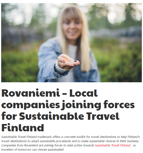 Rovaniemi Sustainable Travel Finland news