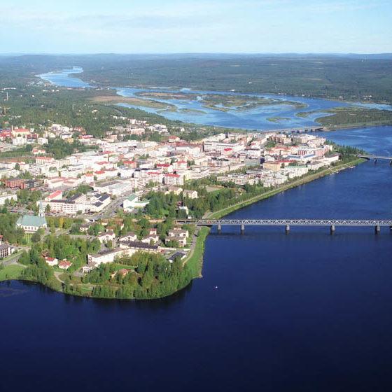 Rovaniemi city aerial view