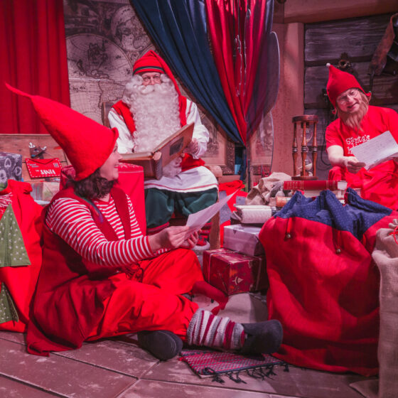 SAMSUNG campaign, Santa Claus and elves at Santa Claus Office in Rovaniemi Lapland Finland