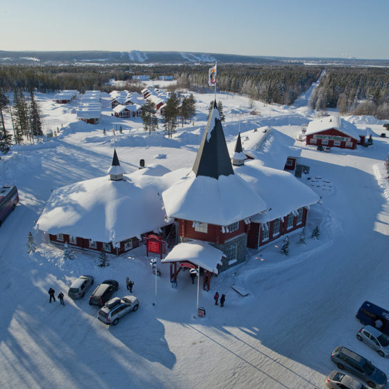 santa claus holiday village in Rovaniemi, Lapland, Finland