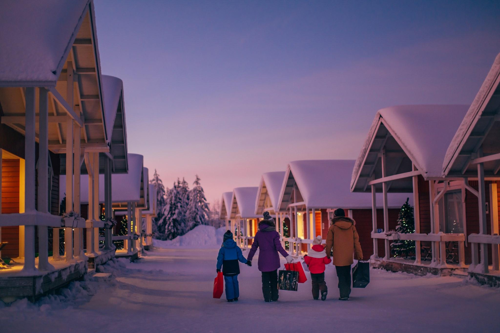 Santa Claus Holiday Village in Rovaniemi Lapland Finland