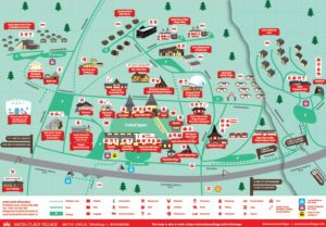 Santa Claus Village map 2018, Arctic Circle, Rovaniemi, Lapland, Finland