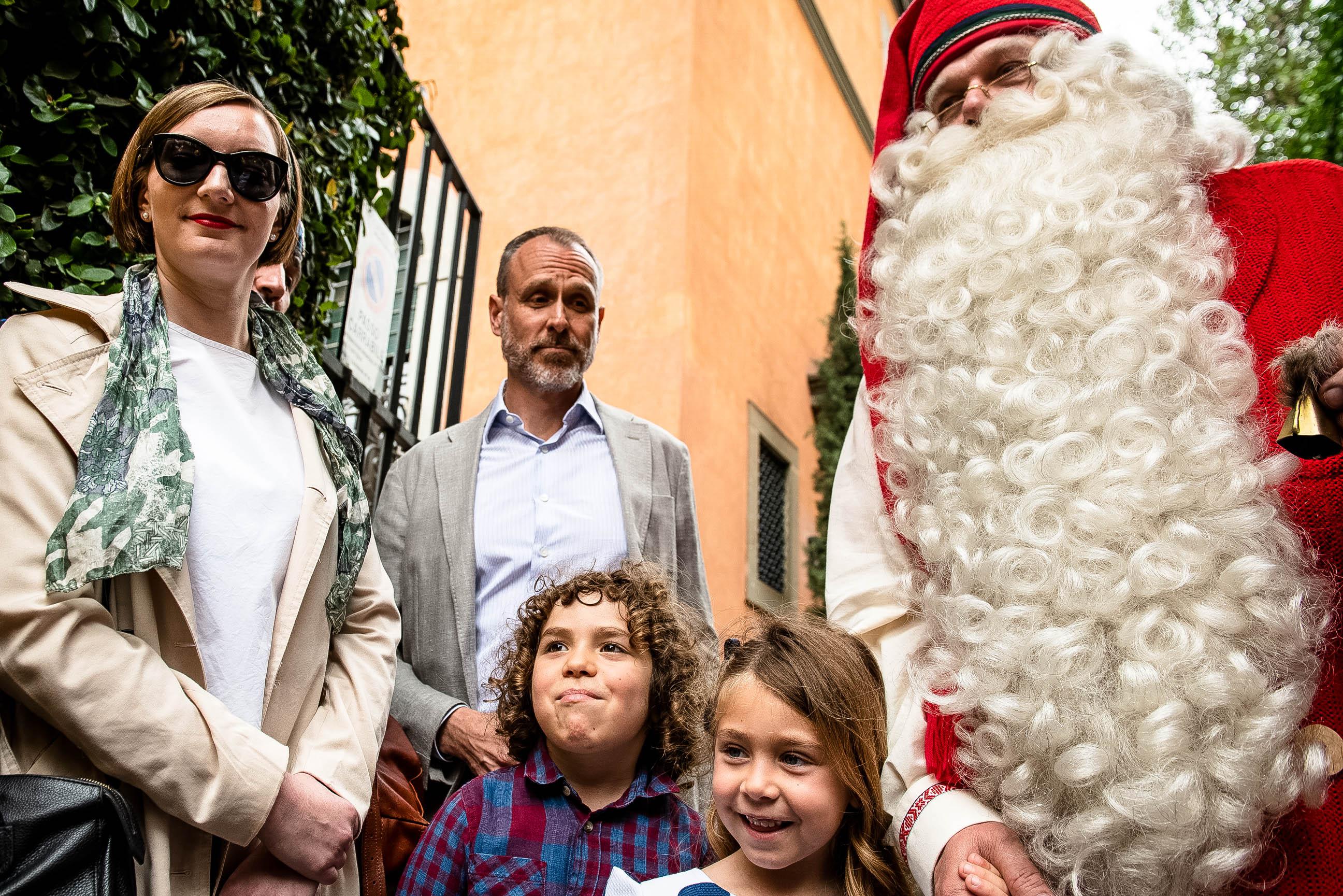 Joulupukki Roomassa.