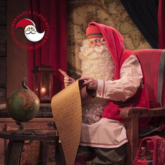 Santa Claus in Santa Claus Office, Santa Claus Village, Rovaniemi, Lapland, Finland