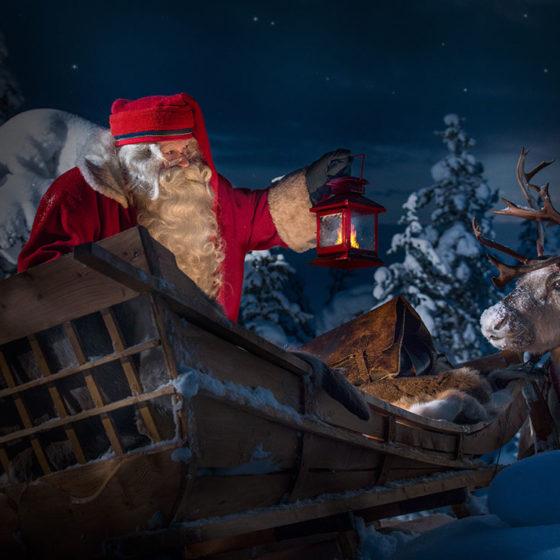 Santa Claus is on his way, Rovaniemi