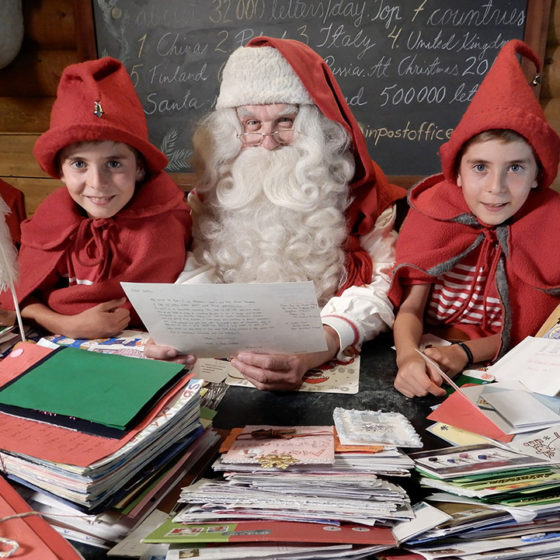Santa and the elves at the Santa Claus Main Post Office