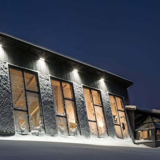 Santas Igloos Arctic Circle Restaurant Arctic Eye in Santa Claus Village, Rovaniemi, Lapland, Finland