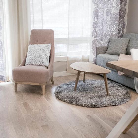 Santasport Aparment Hotel living room, Rovaniemi Lapland, Finland