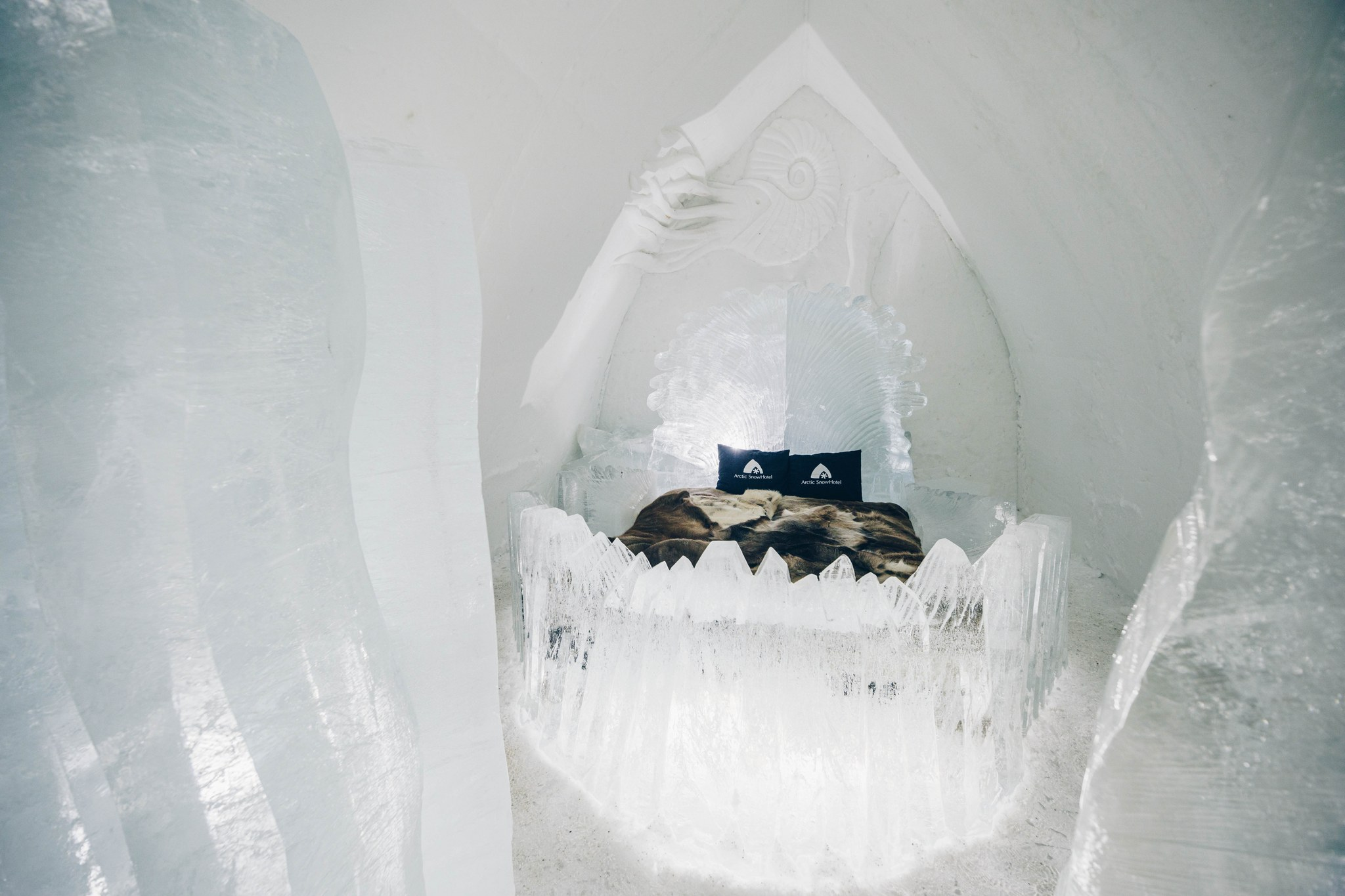 Arctic SnowHotel Shell made of ice