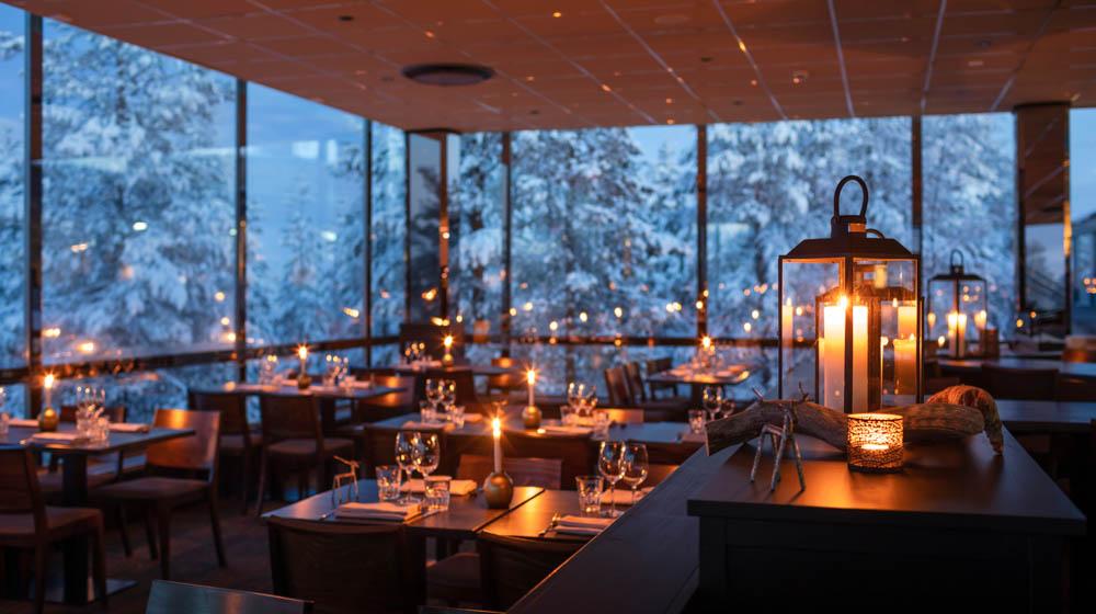 Sky Kitchen View Restaurant, Lapland Hotels Sky Ounasvaara, Rovaniemi, Lapland, Finland