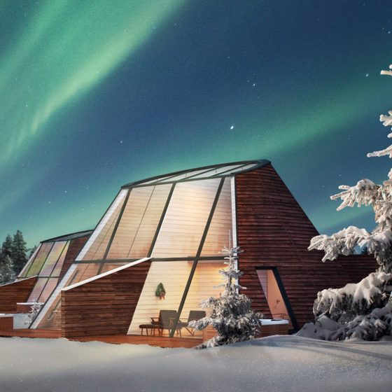 Snowman World Glass Resort Glass Apartment at Santa Claus Village, Rovaniemi