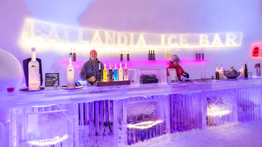 Laplandia Ice Bar serves high quality alcohol and non-alcoholic drinks.