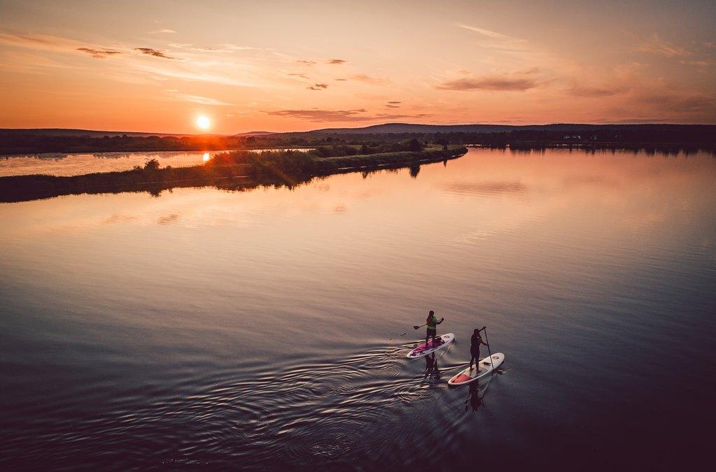 Sup lautailu Rovaniemi Kesä Lapissa