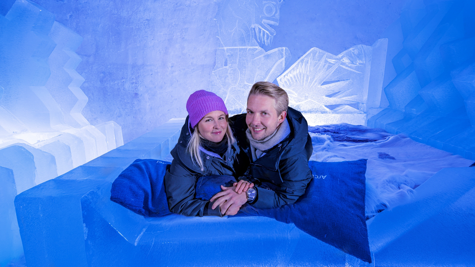 Suite made of snow and ice, Arctic SnowHotel, Rovaniemi, Lapland, Finland-2