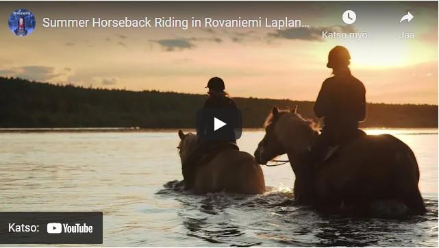 Summer Horseback Riding Rovaniemi Video Youtube