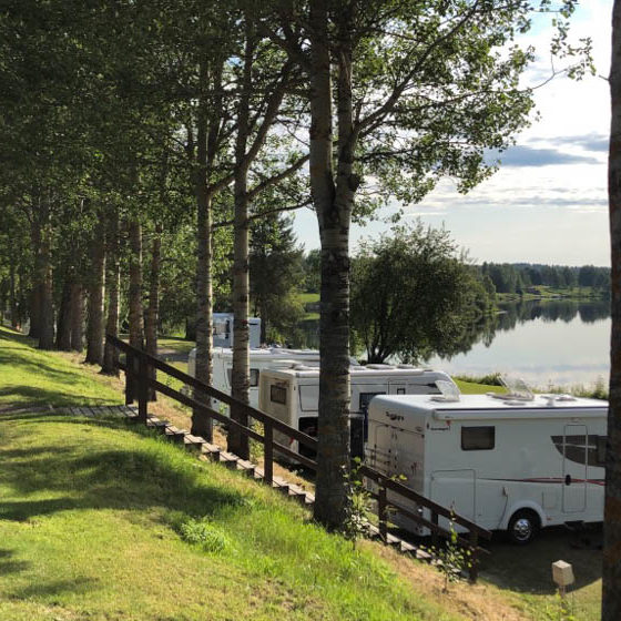 Summer camping in Napapiirin Saarituvat, Rovaniemi, Lapland, Finland