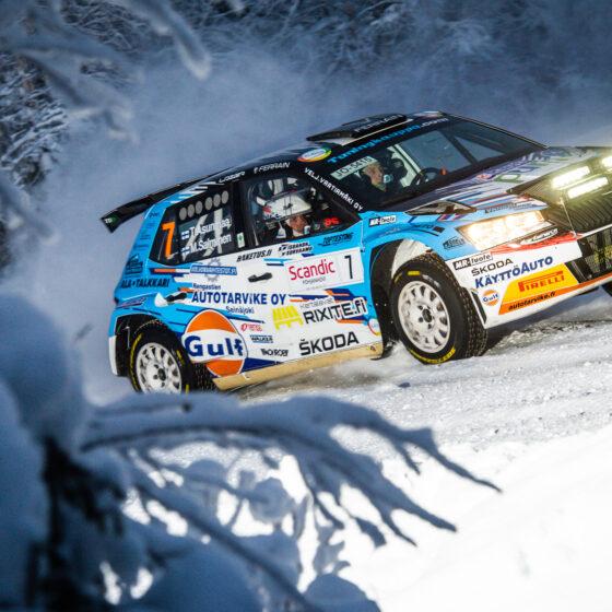 Teemu Asunmaa Taneli_Niinimaki Arctic Lapland Rally Rovaniemi Finland