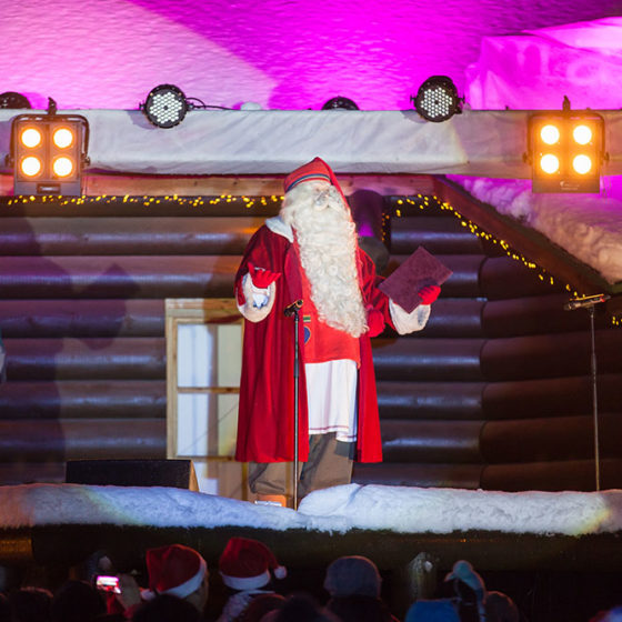 The Grand Opening of the Christmas season in Rovaniemi, the Official Hometown of Santa Claus