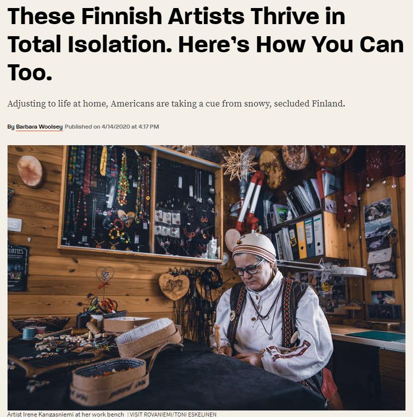 Thrillist article about Irene Kangasniemi in Rovaniemi Lapland Finland