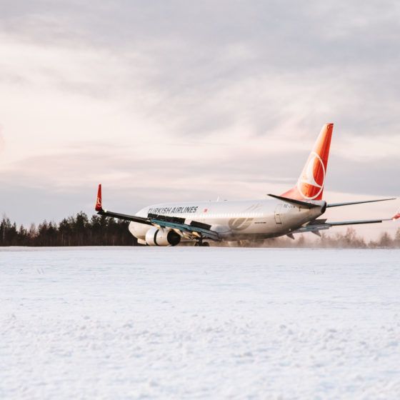 Turkish Airlines first flight from Istanbul to Rovaniemi 5.12.2019