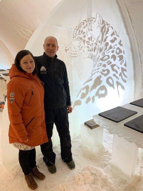 Heidi and Ville Haavikko at Arctic Snowhotel and Glass Igloos, Visit Rovaniemi, Lapland, Finland