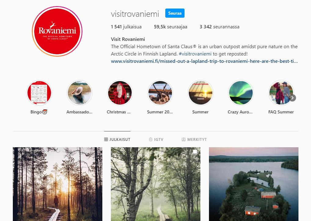 Visit Rovaniemi Instagram feed
