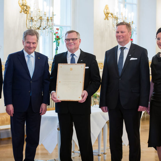 Visit Rovaniemi receives internationalisation award from President of Finland Sauli Niinistö