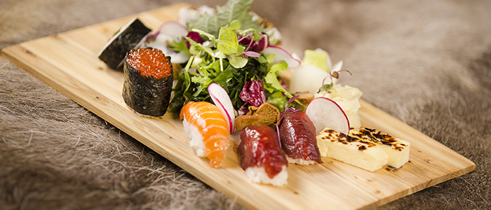 Wakkanai Sushi with Lappish twist in Rovaniemi, Lapland, Finland