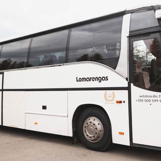 Wild Nordic Shuttle bus in Rovaniemi, Lapland, Finland