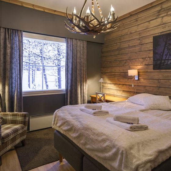 Wilderness room in Wilderness Hotel Muotka, Saariselka, Lapland, Finland