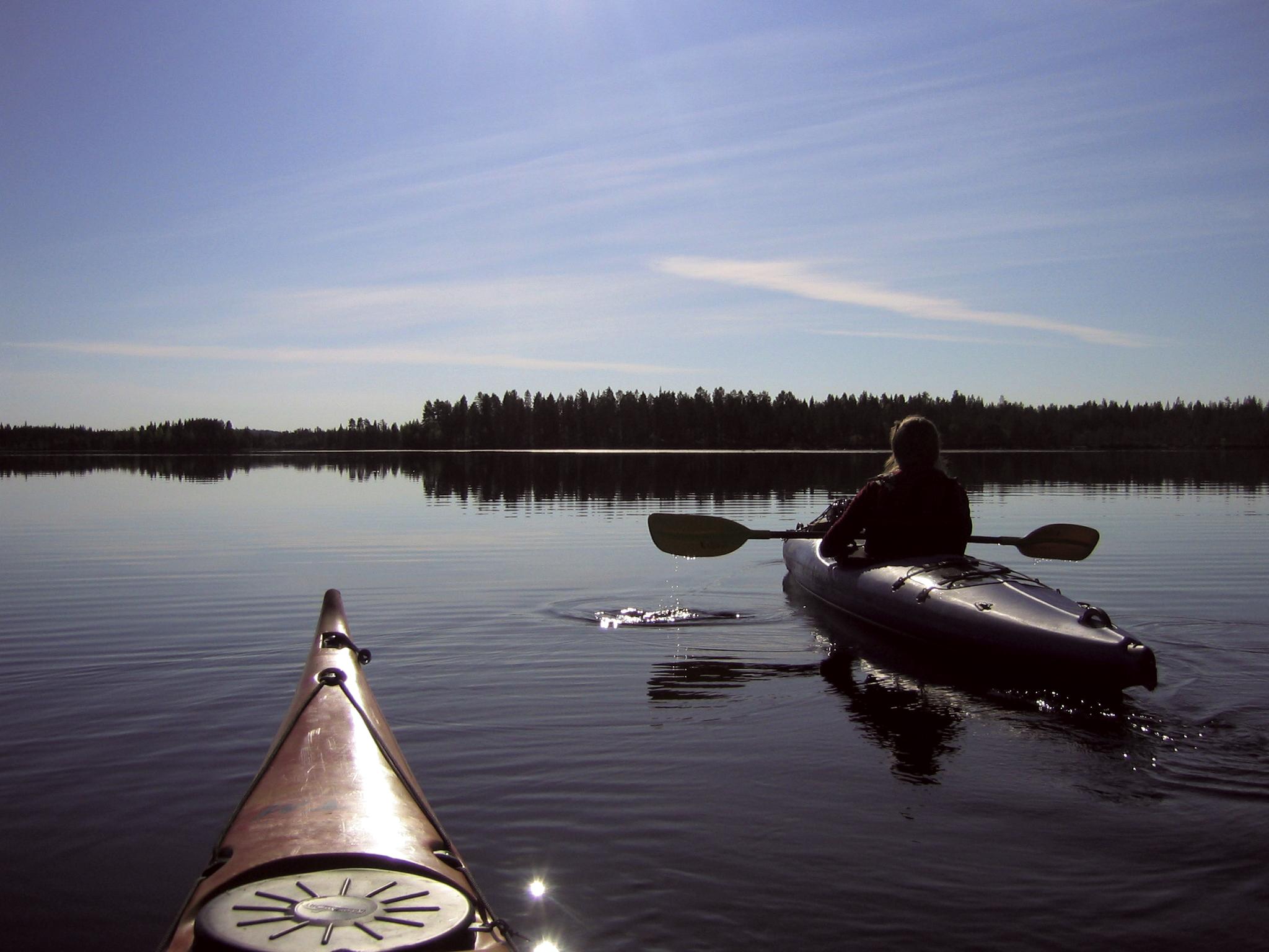 Canoe trip in Ounasjoki river, Rovaniemi
