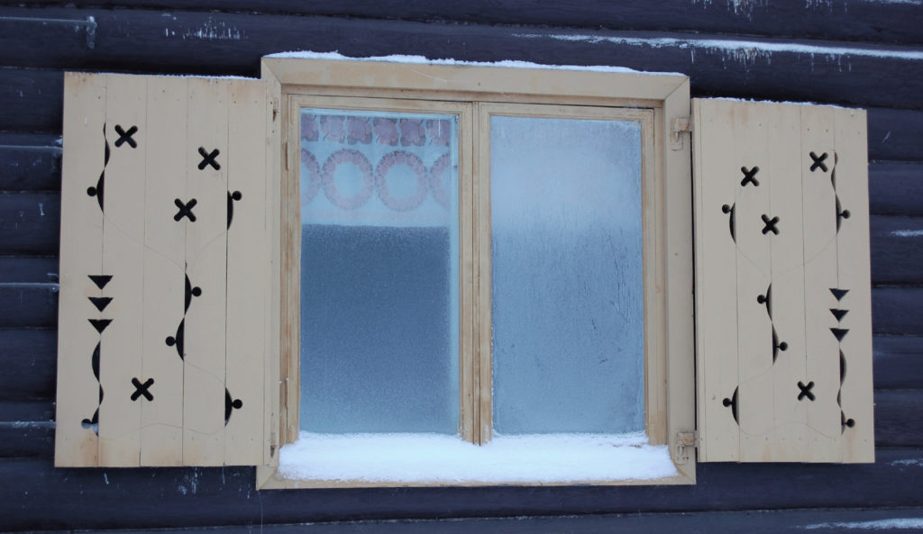 Window design by Ferdinand Salokangas in Rovaniemi, Lapland, Finland